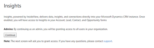 Insights - granting access to your organization