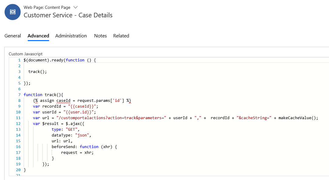 customer service case details microsft dynamics 365 crm JavaScript functions to the Web Page