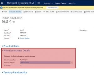 Dynamics 365 CRM Product Catalog
