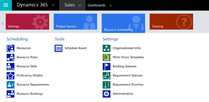 Dynamics 365 Central Schedule Board