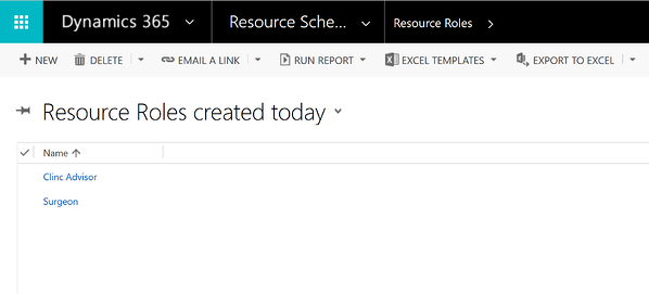 Create resource roles for scheduling in Microsoft Dynamics 365