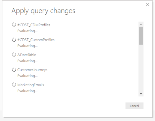 How to Get Started With Power BI Reports and Dynamics 365 Marketing - apply query changes