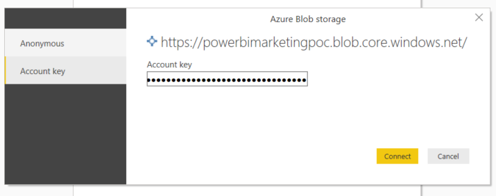 How to Get Started With Power BI Reports and Dynamics 365 Marketing - azure blob storage