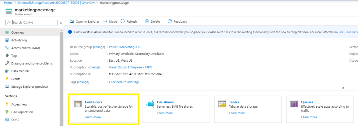 How to Get Started With Power BI Reports and Dynamics 365 Marketing - container icon