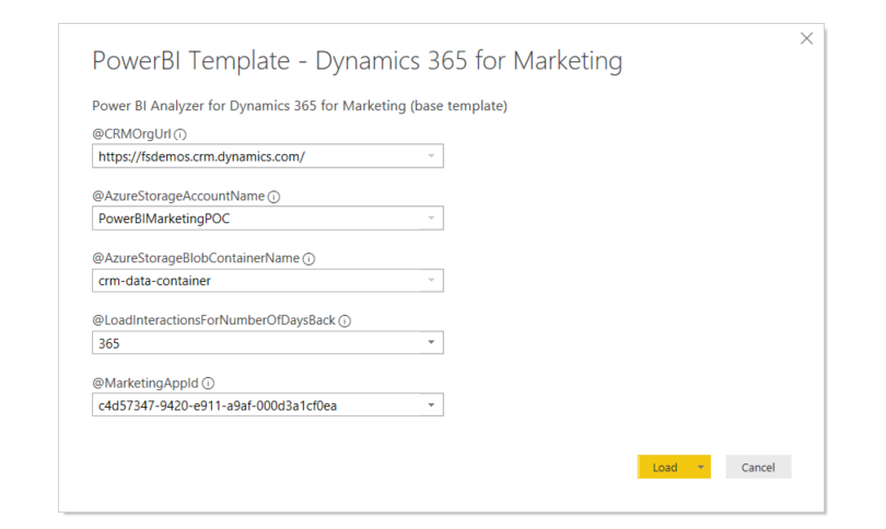 How to Get Started With Power BI Reports and Dynamics 365 Marketing - power bi template