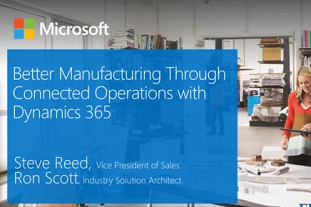 Empowering Manufacturers with Operations