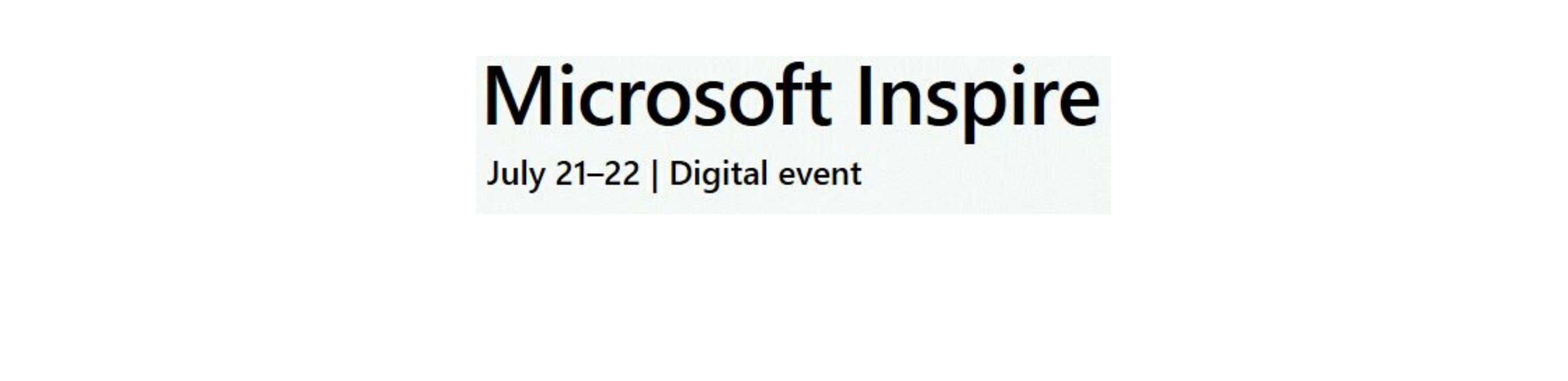 Microsoft Inspire Event Page Header SMALLER